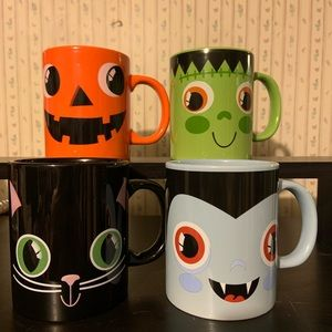 Halloween Monster Coffee Mugs NWOT